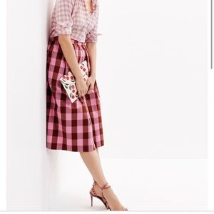 JCrew Oversized Gingham Midi Skirt Worn Once 🎀